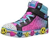 Skechers Kids Girls' Smile Lites Sneaker, Black/Multi, 3 Medium US Little Kid