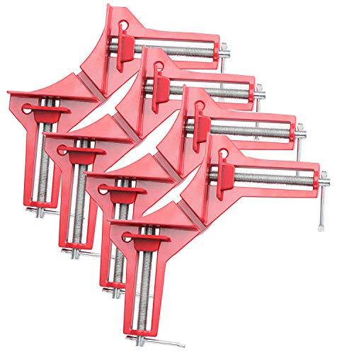 Fippy - Abrazadera de ángulo recto de 90 grados, juego de abrazaderas para carpintería ajustable de madera para marco de fotos, herramientas de mano y abrazadera de esquina