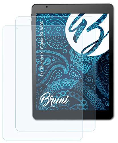 Bruni Schutzfolie kompatibel mit Touchlet X10.Octa PX-8896 Folie, glasklare Bildschirmschutzfolie (2X)