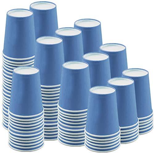 JINLE 120 Piezas Tazas de Papel Azul Vasos de Desechable Fiesta Tazas...