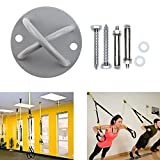 Suspension Trainer Wall Ceiling Mount – Heavy Duty Anchor Bracket for Crossfit, Gymnastics Rings, Yoga Swing, Hammock, Strength Bands, Resistance Band, Suspension Straps (2 Pack)