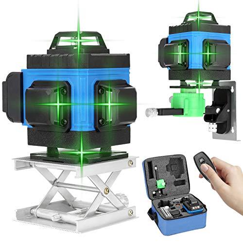 Kreuzlinienlaser Kecheer grüner Laserpegel selbstausgleichende Multifunktionales 16-Zeilen-Ebenenwerkzeug Vertikale horizontale Querlinie APP-Fernbedienung mit Selbstnivellierungsfunktion