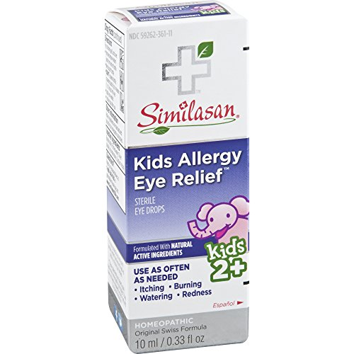 Similasan Kids Allergy Eye Relief Drops 0.33 Ounce, for Temporary Relief from Red Eyes, Itchy...