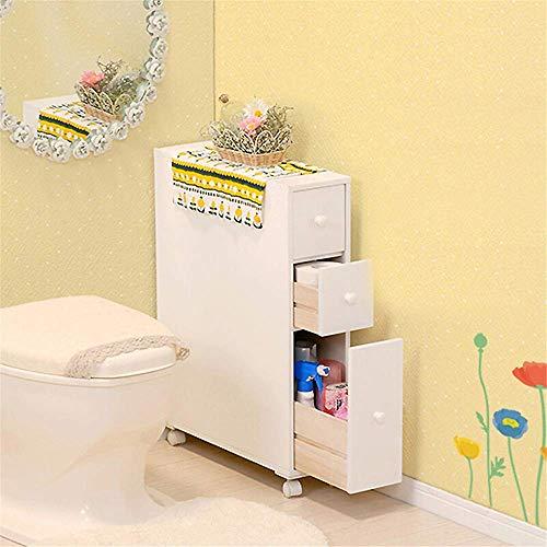 CESULIS. Scaffali del bagno Mensole bagno bagno Gabinetto laterale igienici Governo di immagazzinaggio del supporto del tessuto autoportante Bagno risparmiatore dello spazio Contenitori Compatible wit