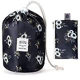2 Packs Cute Makeup Bag Drawstring Makeup Bag Organizer Small Makeup Bag for Purse Travel Makeup Bag for Women Kawaii Makeup Bag Scrunch Sac Makeup Bag