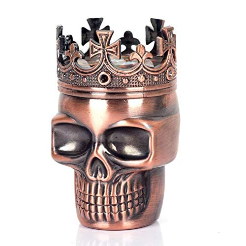 Personal Halloween Theme Classic King Skull Tabaco Herb Spice Grinder 3 Capas Ashtray Ghost Grinders Fumar Accesorios-Retro (Color : Retro)