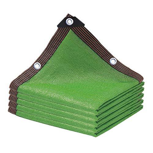 xiaoshuidi123 Paño de Sombra Transpirable Red de Sombreado Resistente al Viento, de Tela UV, toldo para Exteriores, Patio, jardín, Patio Trasero, Parque Infantil al Aire Libre (8×8m/26×26ft,Green)