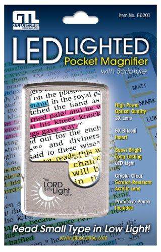 Price comparison product image Led Lighted Pocket Magnifier