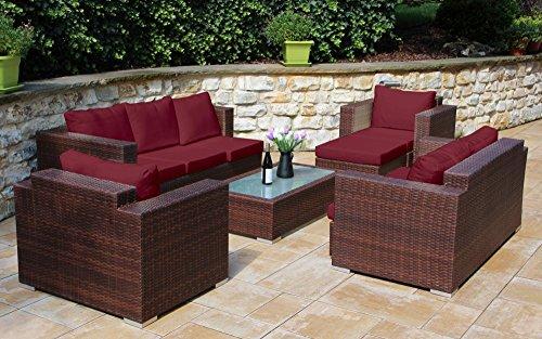 Baidani 13b00007.93001 Daylight Rattan Garden Lounge Set 192 x 150 x 63 cm Brown