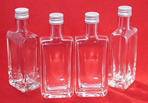 Slkfactory - Juego de 24 botellas de cristal vacías (50 ml, largas, pequeñas, miniatura, 5 cl, 40 ml)