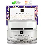 Crema hidratante antiarrugas con ácido hialurónico, vitamina C, colágeno marino y protección...
