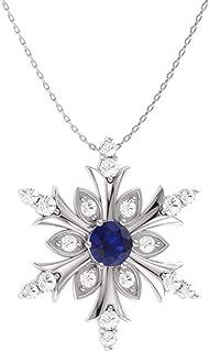 Best blue diamond snowflake necklace Reviews