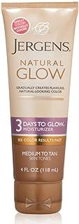 Jergens Natural Glow 3 Days to Glow Moisturizer, Medium to Tan 4 oz (Pack of 2)