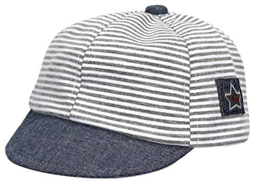 Gevie - Gorra de béisbol para bebé, niñas, niños y niñas, deportes al aire libre, verano, protección solar de 6 a 18 meses gris Talla única