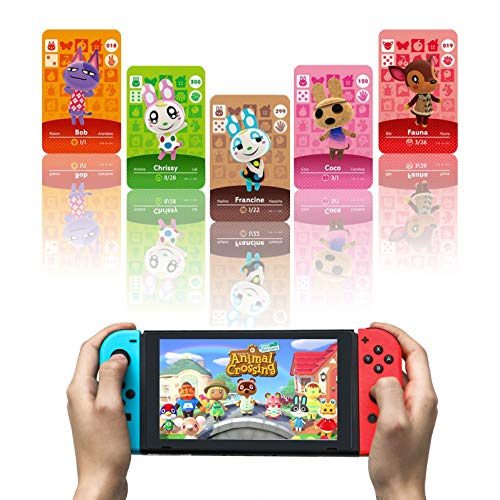 80 Pcs Animal Crossing New Horizons ACNH NFC Tag Game Cards for Nintendo Switch/Lite, Wii U and 3DS with Storage Case