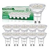 Lampadine LED GU10 5W, Spotlight LED Bianco Caldo 3000K 450 Lumen Equivalenti a 50W Alogene AC 220-240V, Bombubilla Confezione da 10 Non Dimmerabil