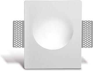 Foco LED empotrado de yeso Mika, color blanco, incluye X IP20, lámpara de pared, lámpara de techo, lámpara empotrable, foco de techo, casquillo X GU10 – sin bombilla