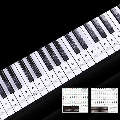 Redcolourful Transparant Piano Keyboard Sticker 88 Keys Elektronisch Toetsenbord Piano Sticker producten, Zwart
