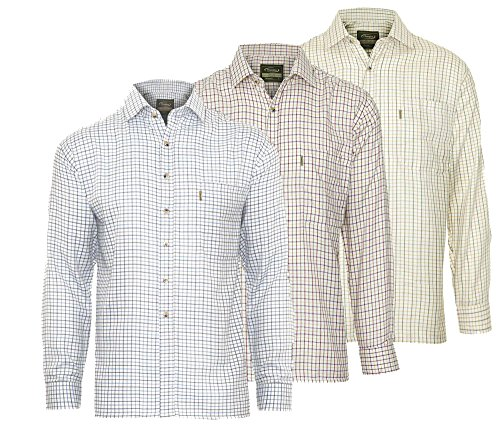 Champion 3pk Herren Tattersall Country Style Casual Check langärmelige Shirt 2320 Gr. XXXX-Large, 1 x Blue 1 x Wine 1 x Olive
