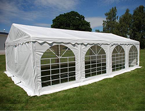 Dancover Partyzelt Pavillon Festzelt Original 4x8m PVC, Weiß