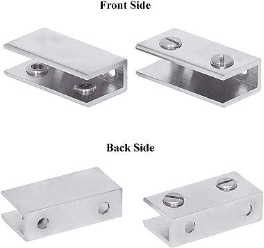 Plantex Premium Transparent Glass Shelf for Bathroom/Wall Shelf/Storage Shelf(12x6 Inches)