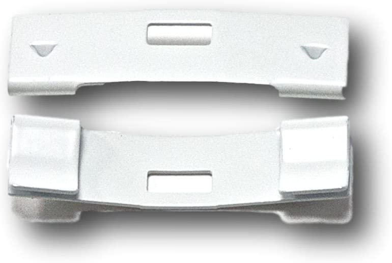 15 Pack Limited time sale Vertical Blind Vane Long-awaited Saver Curved ~ Fi White Clips Repair