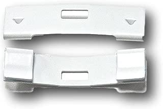 15 Pack Vertical Blind Vane Saver ~ White Curved Repair Clips Fix Broken Vertical blinds