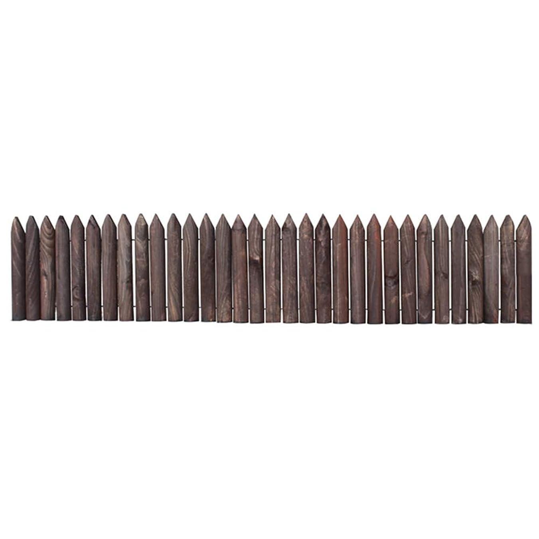必要としている拡張通りGZHENH 木製ボーダーフェンス チャイルドガードレール 植物保護 ウッドフェンス 環境を守ること 安定した 炭化 バルコニー 4サイズ (Color : A-2pcs, Size : 118x20cm)
