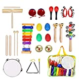 Ulifeme Instrumentos Musicales para Infantil, 25pcs Juguetes Músicales de Percusion para Bebes,...