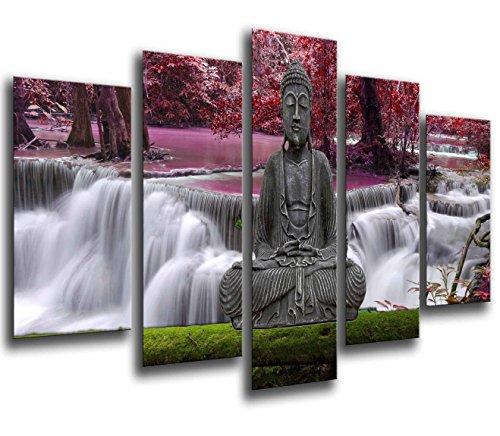 Cuadro Fotográfico Buda Buddha, Relajacion, Relax, Zen Tamaño total: 165 x 62 cm XXL