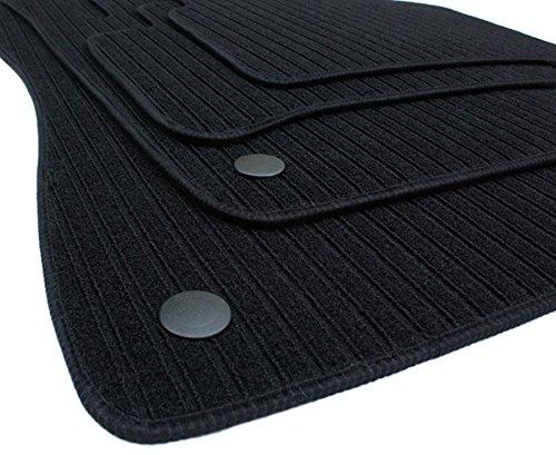 Kfzpremiumteile24 Fußmatten Velours Kompatibel mit E-Klasse W211 S211 T-Modell Baujahr 03/2002-10/2009 Rips Automatten Premium Stoffmatten Schwarz