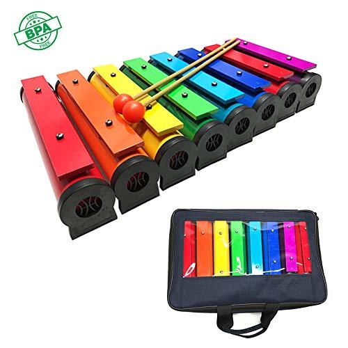 HSJLH Farbe Oktave Klavier, Glockenspiel Kinderbildungsniveau Perkussion, Erwachsene und Kinder - mit einem Schlägel Schlaginstrument