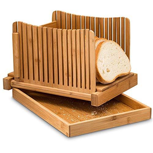 LaceDaisy Faltbare Brot Schneiden Loaf Slicer Manuell Brot Allesschneider Toast Slice Brotschneidemaschine Für Selbst Gemachtes Brot, Laib Kuchen, Bagels Kompakt Mit Krümel Tablett Funktioniert