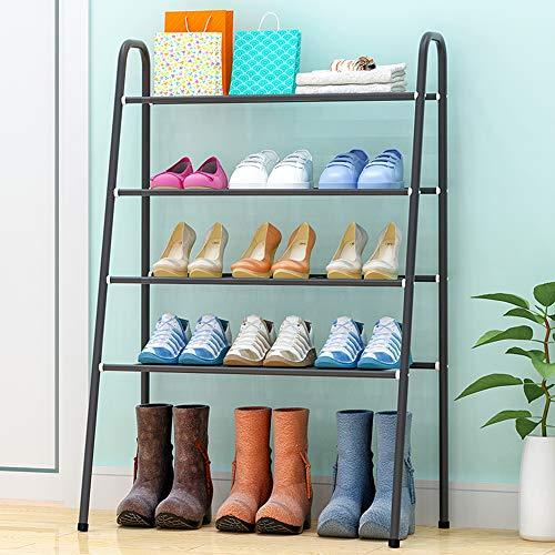 Zapateros / Estante de Flores/Estante/Expositor Simple, gabinete de Zapatos de Almacenamiento doméstico de múltiples Capas, Estante de Zapatos a Prueba de Polvo económico de Hierro Forjado