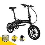 "SWAGCYCLE EB5 Plus Folding Electric Bike with Removable Battery | City eBike with Pedals & Swappable 36V Battery | 14"" Wheels, 250W..."