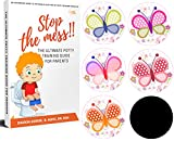 Potty Training Seat Magic Sticker Butterfly Toddler Potty Training Toilet Color Changing Sticker 5 Pack Toilet Targets with Free Potty e Book | Use with/Without Potty Chart or Potty Training Watches