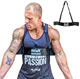 Hawk Sports Arm Blaster for Biceps & Triceps Dumbbells & Barbells Curls Muscle Builder Bicep Isolator for Bodybuilding & Weight Lifting Support for Strength & Muscle Gains (Black)