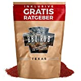 BBQ Rub 'Texas' 270g | Trockenmarinade für Pulled Pork & Spareribs inkl. Gratis Ratgeber | Gewürzmischung Grillgewürz Barbecue Marinade Grill Gewürz