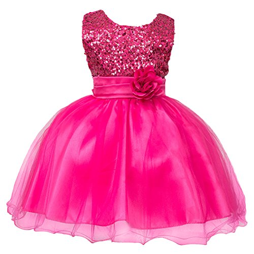 Baby Girl Toddler Lace robe de mariage baptême Formal Wear 6-24 mois