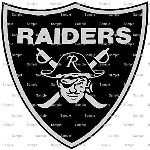 2' Round - Raiders Mascot Birthday - Edible Cake/Cupcake Party Topper - D951