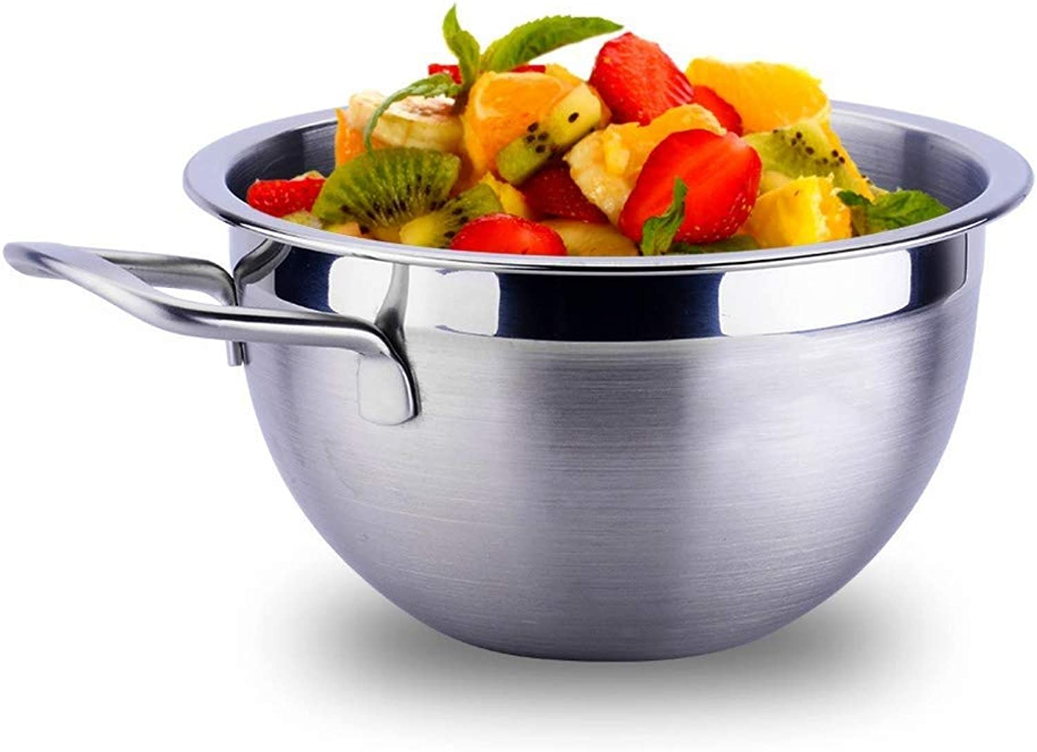 LLDDP Cooking Equipment Bowl Stainless Steel Deep Mixing Salad Bowl, Cooking Baking & Serving Bowls for Pasta, Stirring, Food Preservation, Highly Polished Technology, for Easy Grip and Pouring,Natura