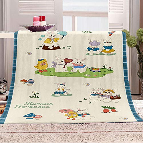 Blankets Cartoon Animals Super Soft Flannel Fleece Blanket Large Fluffy Warm Bed Sofa Throw for Bedroom, Couch, Travel, Kids, Bedroom, 150x200cm