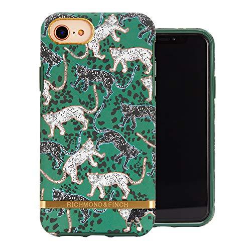 Richmond and Finch entworfen für iPhone SE Gehäuse, Grünes Leopard Gehäuse für iPhone SE / 6 / 6s / 7/8 mit goldenen Details - Grün