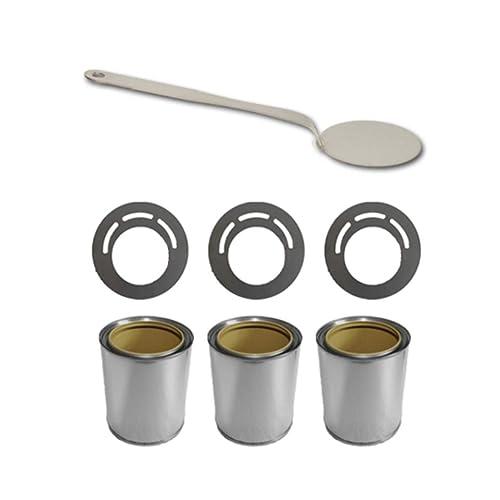 Set Accessoires pour cheminée au éthanol boîtes pour carburant + plaques épargne