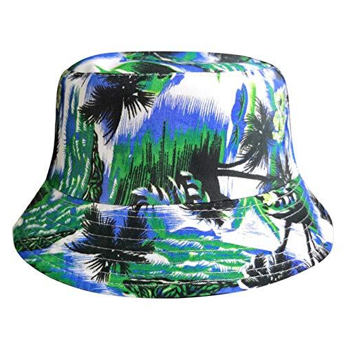 H/A Árbol de Coco Pescador Sombrero Masculino Mujer Gorra Gorra Panama Sombrero de Paja MENGN (Color : A)