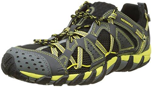 Merrell Waterpro Maipo, Zapatillas Impermeables para Hombre, Negro (Negro/Amarillo), 41 EU
