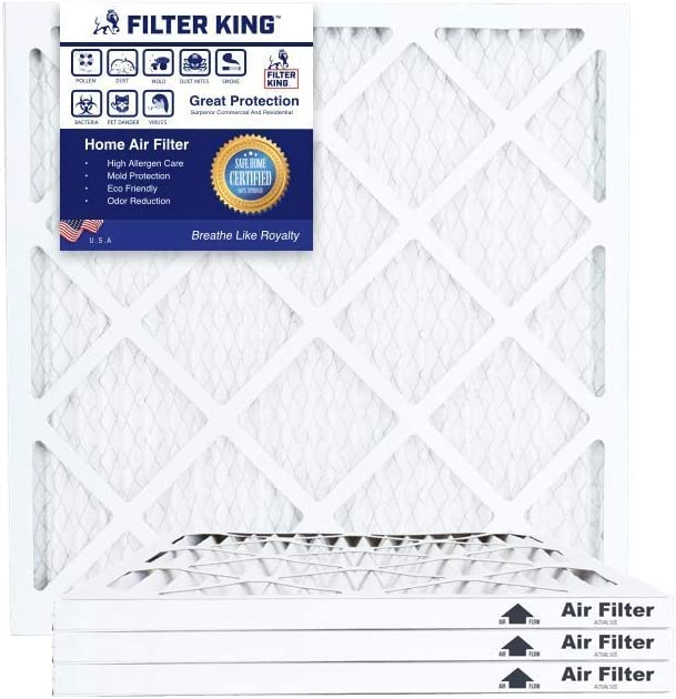 Filter King 19.5x19.5x1 Air trend rank Filters Easy-to-use 4 8 Pack Pleat HVAC MERV