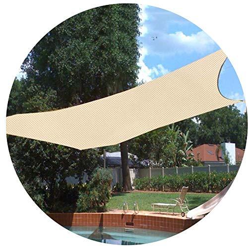 PLEASUR Party zonwering luifel baldakijn outdoor zonwering schaduw zeil 95% bescherming zonwering waterdichte stof tuin versleutelde schaduwdaken - crèmewit