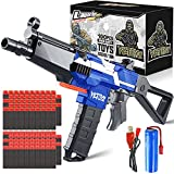 YKToyz Motorized Blaster Toy Gun with 3 Burst Modes, DIY Automatic Toy Foam Blaster Gun with 100 Pcs Soft Darts Fit for NERF Electric Toy Guns Birthday Gifts for 6+ Years Old