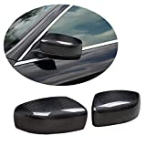 MCARCAR KIT Mirror Cover fits Maserati Quattroporte Ghibli S Q4 GTS Sedan 2014-2017 Real Dry Carbon Fiber Add-on Rearview Side Rearview Mirror Caps Car Exterior Outside Shell